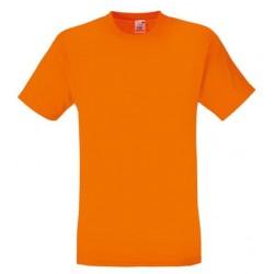 Lehčí tričko Fruit Of The Loom bez potisku - Oražové