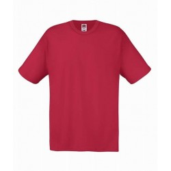 Lehčí tričko Fruit Of The Loom bez potisku - Cihlové