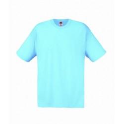 Lehčí tričko Fruit Of The Loom bez potisku - Světle modré