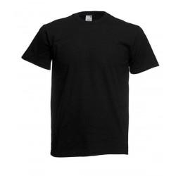 Lehčí tričko Fruit Of The Loom bez potisku - Černé