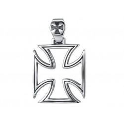 Ocelový přívěsek - Motorkářský kříž