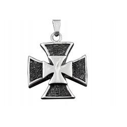 Ocelový přívěsek - Chopper kříž