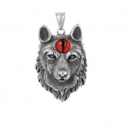 Ocelový přívěsek - Vlk