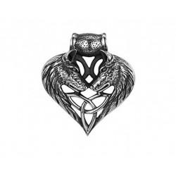 Ocelový přívěsek - Vlci