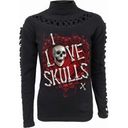 Dámské tričko Spiral Direct - Love Skulls