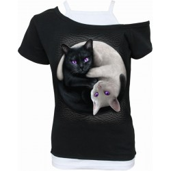 Dámské tričko Spiral Direct - Yin Yang Cats