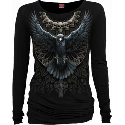 Dámské tričko Spiral Direct - Raven Skull