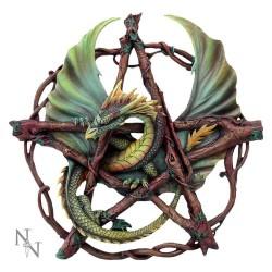 Dekorace na zeď -  Forest Pentagram Dragon