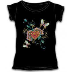 Dámské tričko - Heart And Butterflies