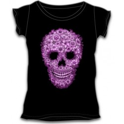 Dámské tričko - Pink Skull