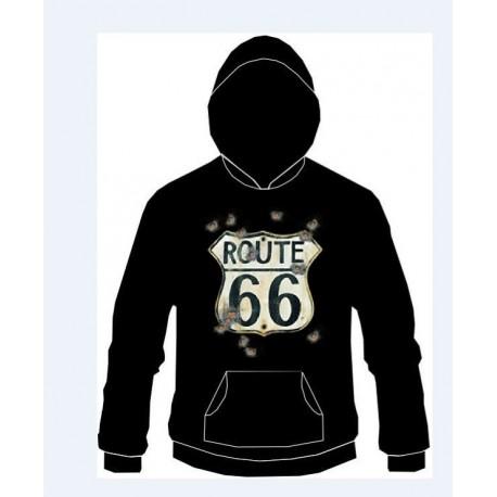 1ac99b115ae Pánská mikina s kapucí - Route 66 - KlanShop