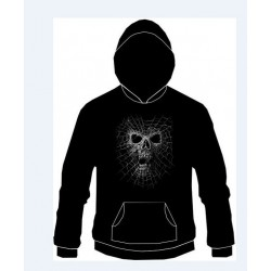 Pánská mikina s kapucí - Skull With Net