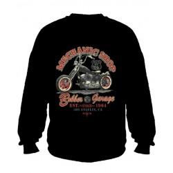 Pánská mikina bez kapuce - Mechanic Shop