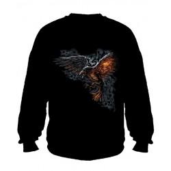 Pánská mikina bez kapuce -Flamed Raven