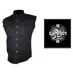 Pánská košile s potiskem - Skull