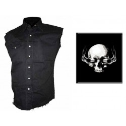 Pánská košile s potiskem - Skull And Guns