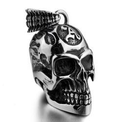 Ocelový přívěsek - Lebka Anarchy