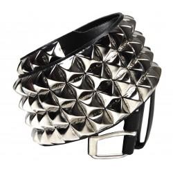 Kožený pásek s pyramidami