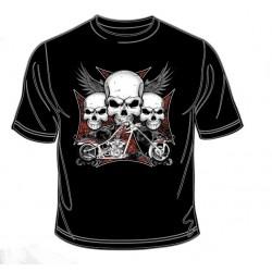 Pánské tričko  -  Iron Cross Chopper