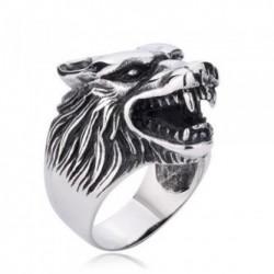 Prsten z chirurgické oceli - Vlk