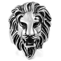 Prsten z chirurgické oceli - Lev