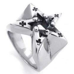 Prsten z chirurgické oceli - Satanská hvězda