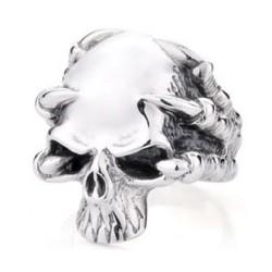 Prsten z chirurgické oceli - Lebka s drápy