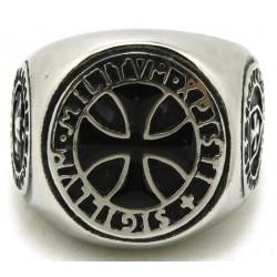 Prsten z chirurgické oceli - Templářský Prsten