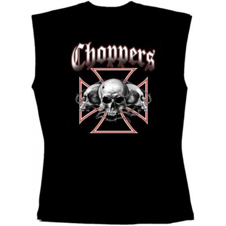 Pánské tričko bez rukávů - Choppers Skulls
