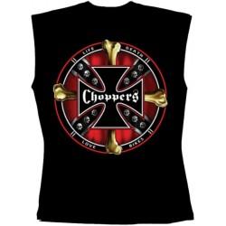 Pánské tričko bez rukávů - Choppers Cross