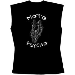 Pánské tričko bez rukávů - Moto Psycho