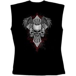 Pánské tričko bez rukávů - Three Skulls