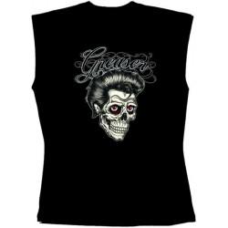 Pánské tričko bez rukávů - Greaser