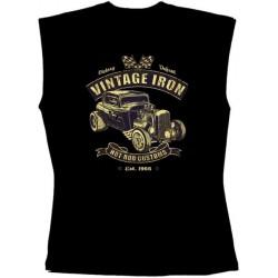 Pánské tričko bez rukávů - Vintage Iron