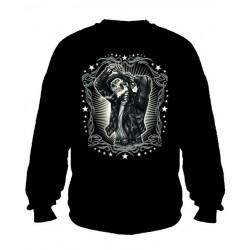 Pánská mikina bez kapuce - Greaser Leather Jacket