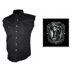 Pánská košile s potiskem - Greaser Leather Jacket