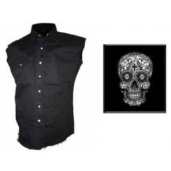 Pánská košile s potiskem - Sugar Skull