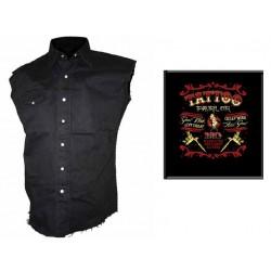 Pánská košile s potiskem - Tatoo Parlor