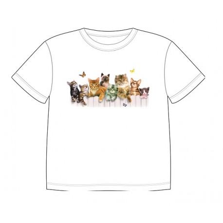 Dětské dobravující se tričko - Cats