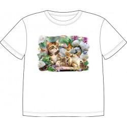 Dětské tričko s potiskem zvířat - Malá koťata