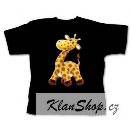 Dětské tričko s potiskem zvířat - Žirafa - KlanShop e2f9932fd0