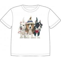Dětské tričko s potiskem zvířat - Pejsci