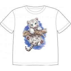 Dětské tričko s potiskem zvířat - Bílý Tygr