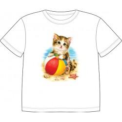 Dětské tričko s potiskem zvířat - Malé kotě