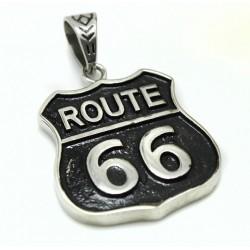 Ocelový přívěsek - Route 66