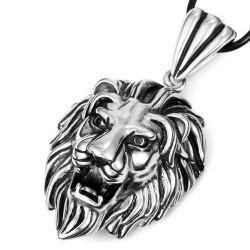 Ocelový přívěsek - Lví hlava