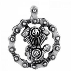 Ocelový přívěsek - Motor s řetězem
