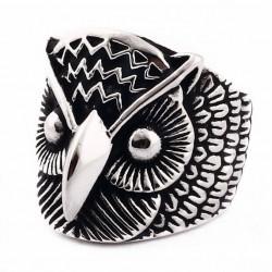 Prsten z chirurgické oceli - Sova