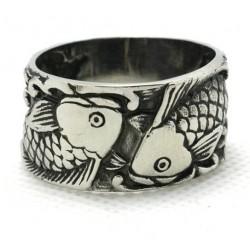 Prsten z chirurgické oceli - Ryby