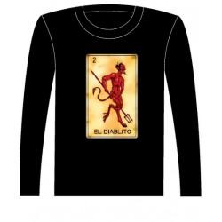 Pánské tričko s dlouhým rukávem - El Diablito